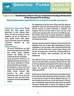Establishing Climate Change Adaptation Funding Mechanisms at the County-level in Kenya