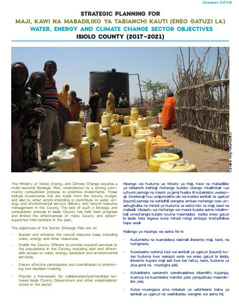 Strategic Planning for Water, Energy and Climate Change - Isiolo County