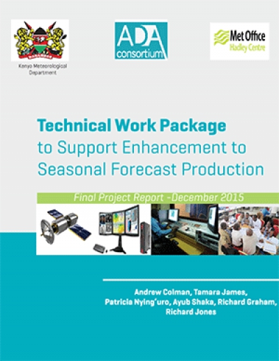 Technical Work Package  to Support Enhancement to  Seasonal Forecast Production