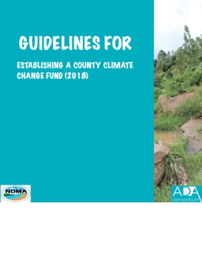 Guidelines for Mainstreaming Climate Change