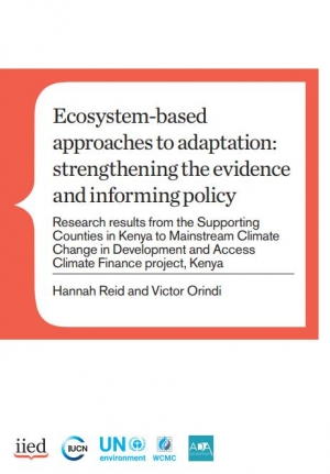 Ecosystem-based approaches to adaptation