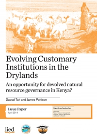 Evolving Customary Institutions in the Drylands