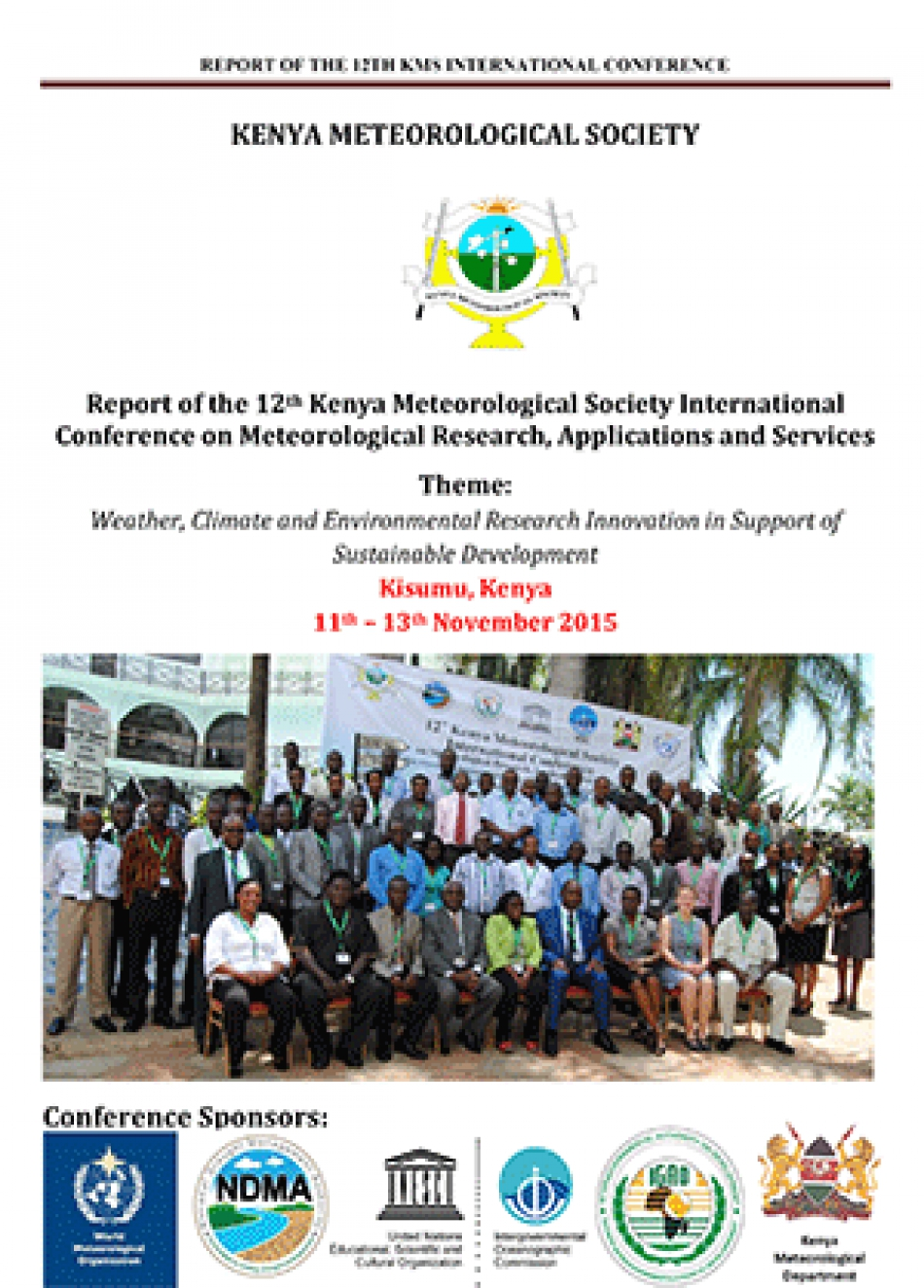 Report of the 12th Kenya Meteorological Society International Conference on Meteorological Research, Applications and Services