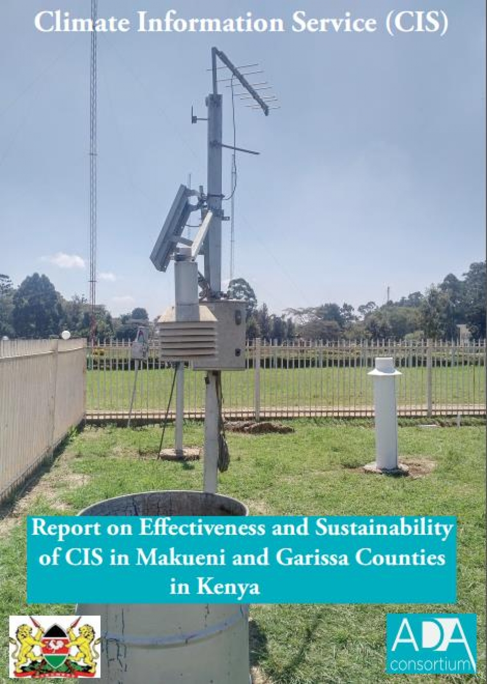 Report on Effectiveness and Sustainability of CIS in Makueni and Garissa Counties in Kenya